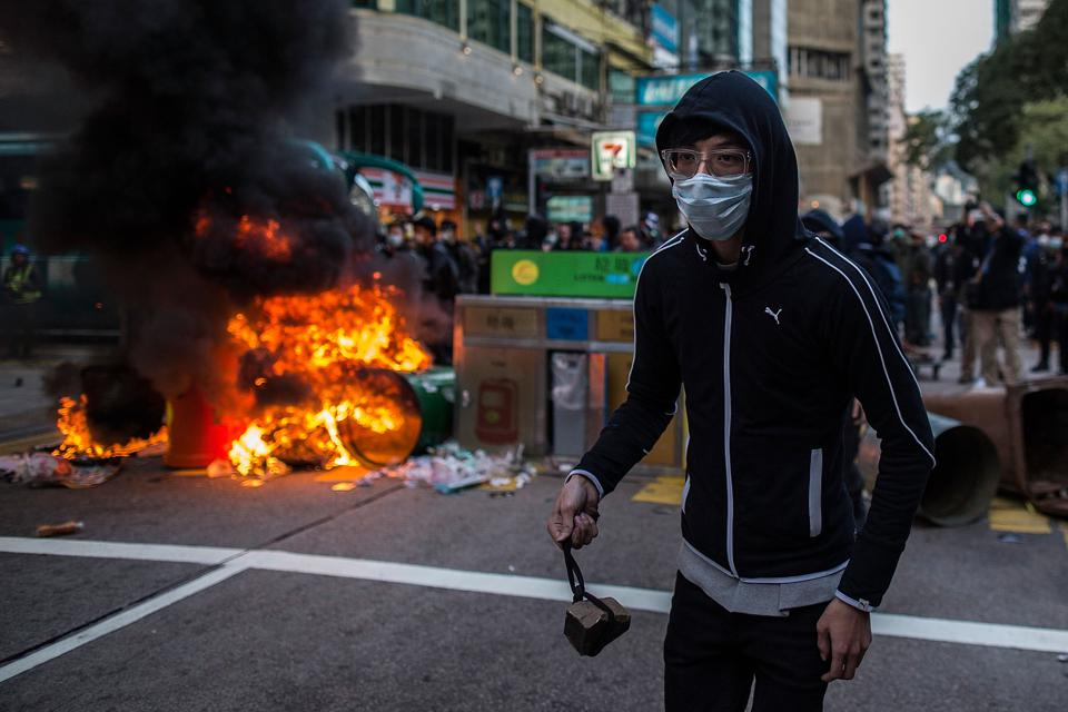 Hong Kong Protesters Clash With Police In 'Fishball