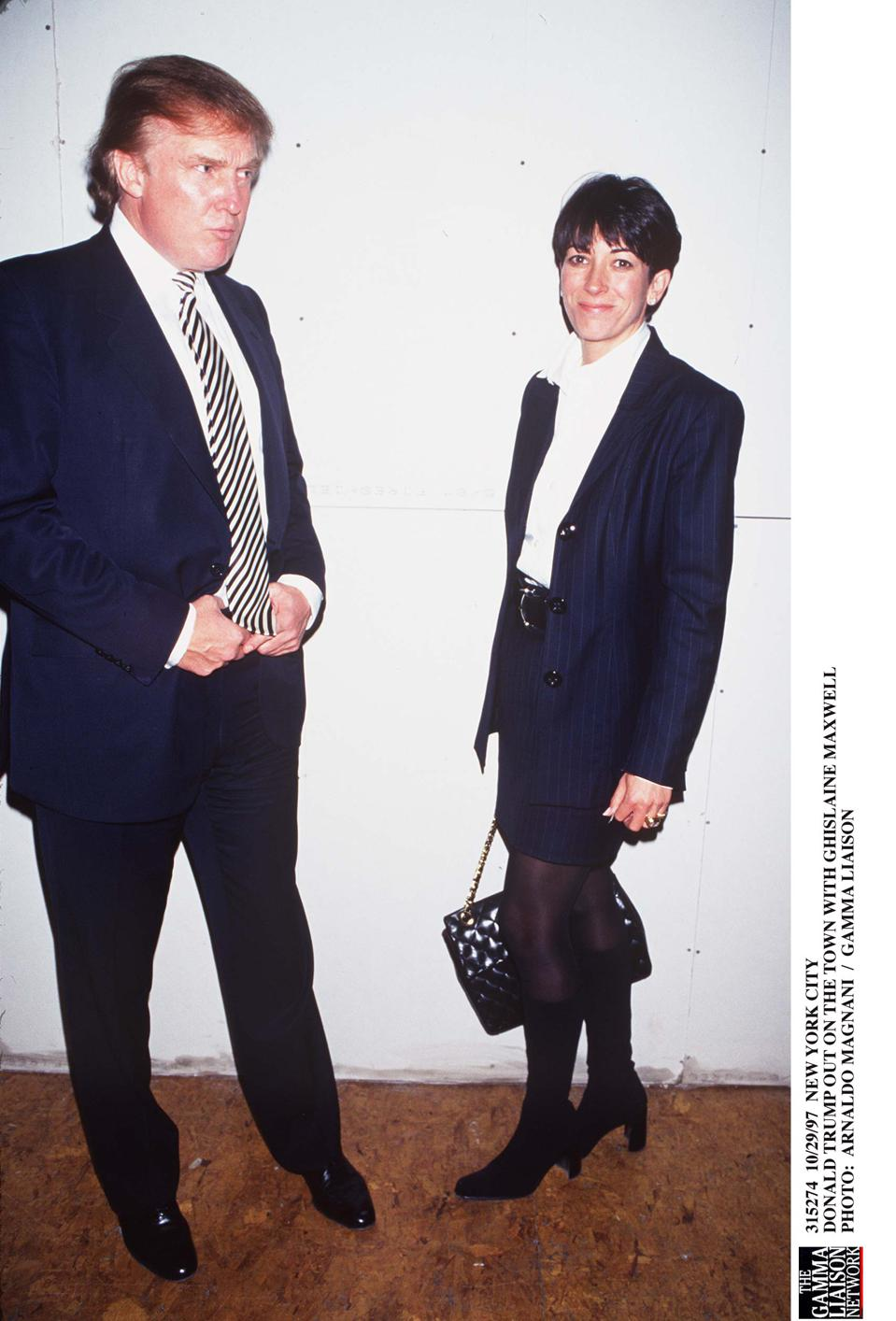 Donald Trump Out On The Town With Ghislaine Maxwell Photo: Arnaldo Mag