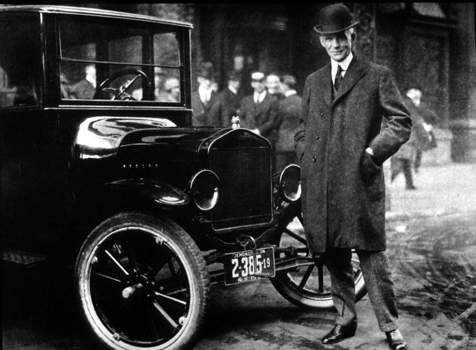 Henry Ford With His Model T...