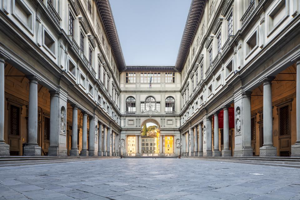 The Uffizi Gallery in Florence, Italy do not travel