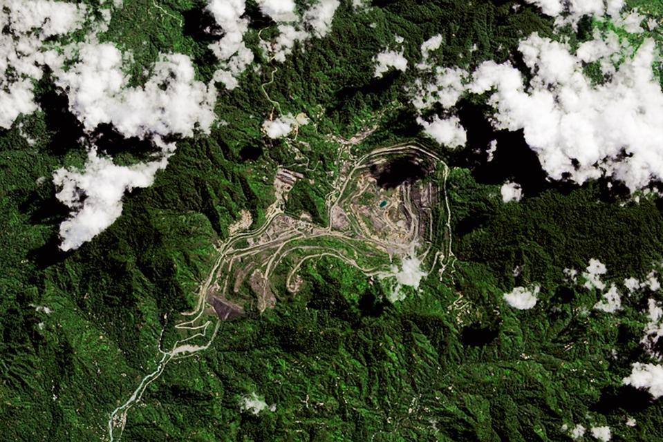 Satellite Views of the Panguna Mine