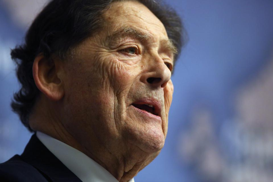 Nigel Lawson Delivers Speech On Leaving The EU