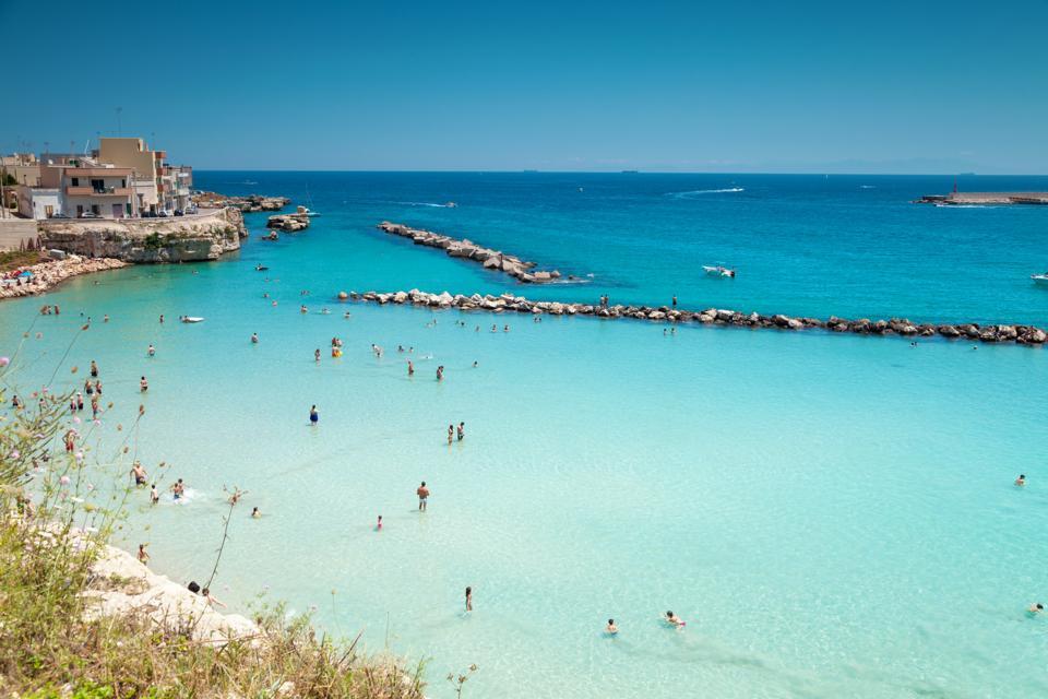 One of Otranto's beaches.