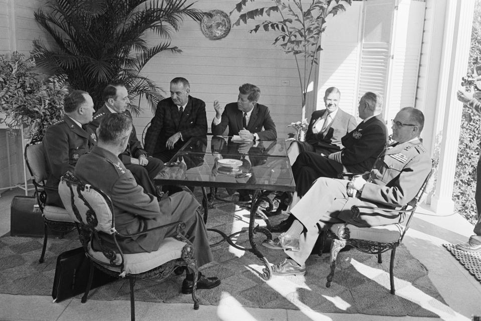 President Kennedy Meets With Defense Chiefs