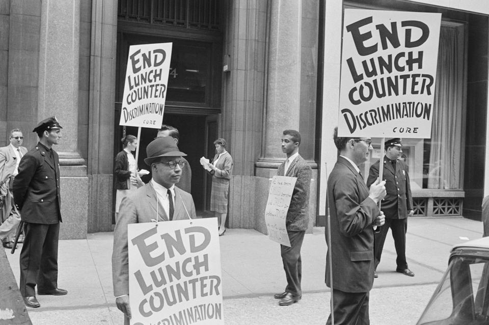Demonstrators Picketing Kress Company for Lunch Counter Discrimination