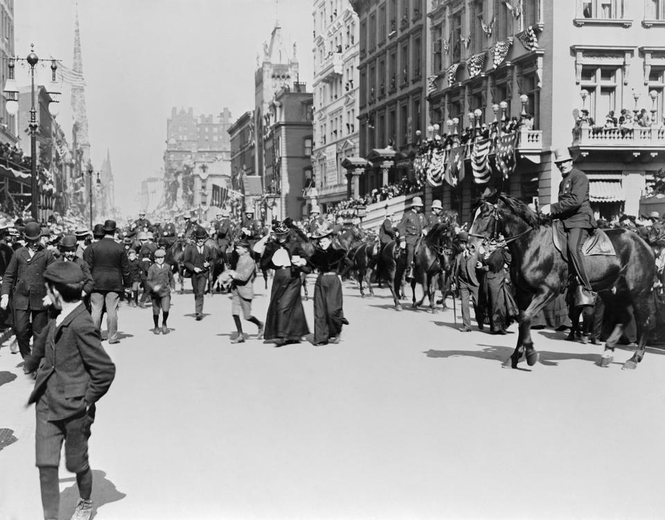 Dewey Parade in New York City