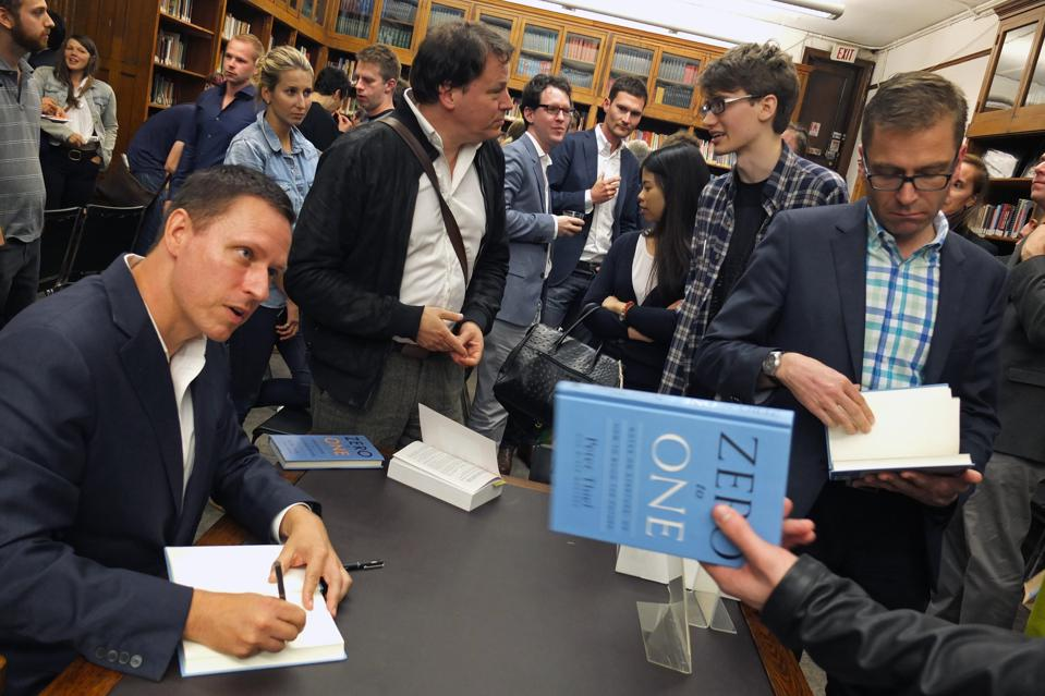 Zero to One book signing with Peter Thiel