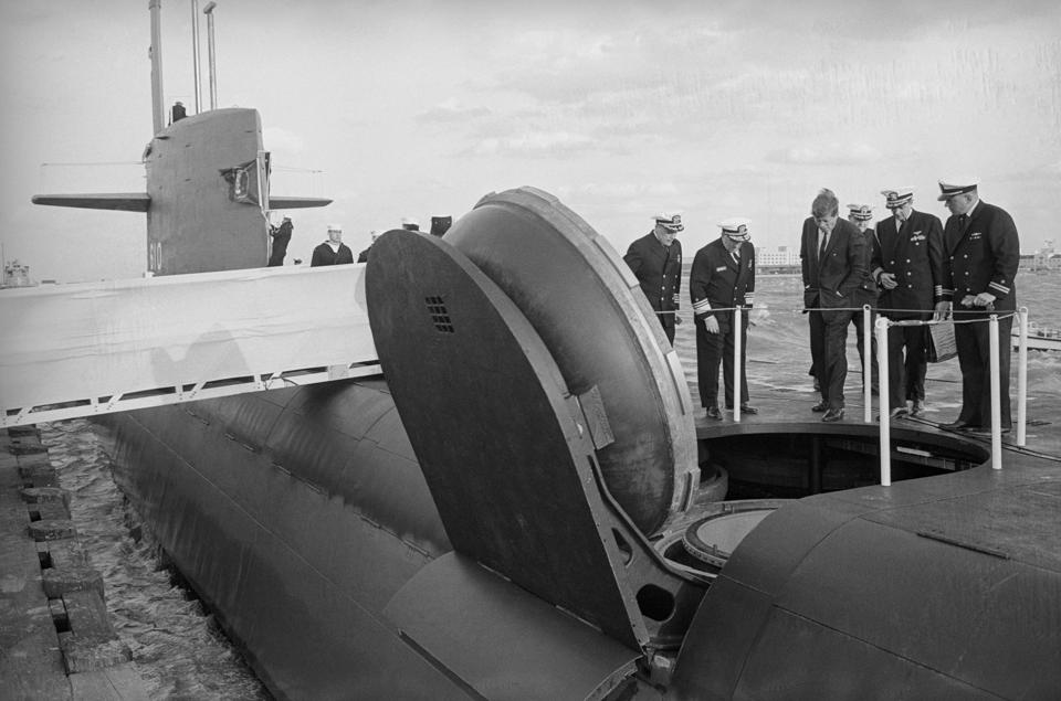 John Kennedy Touring a Nuclear Submarine