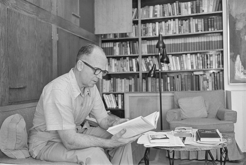 James Michener Reading Book