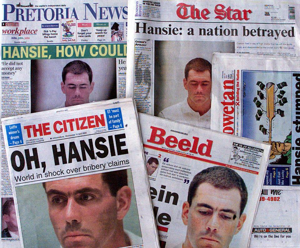 The front pages of the South African morning newsp
