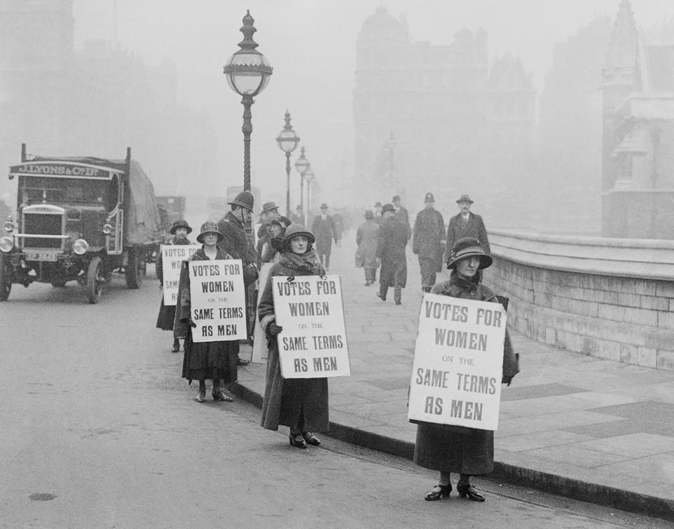 Suffragists Picketing House of Commons