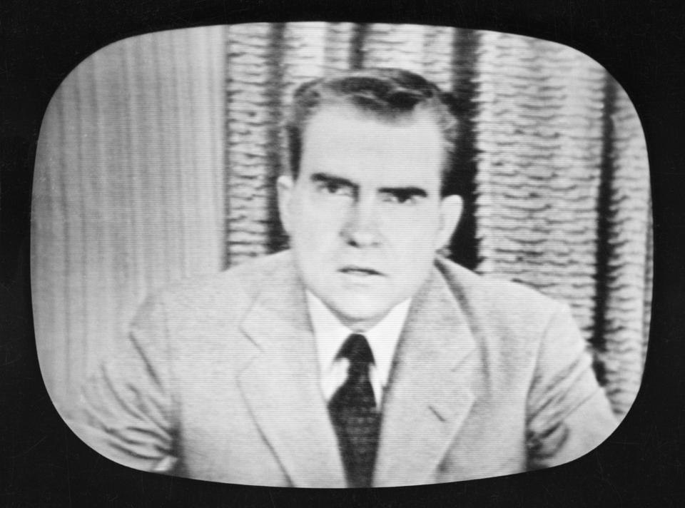 Nixon Delivering ″Checkers″ Speech