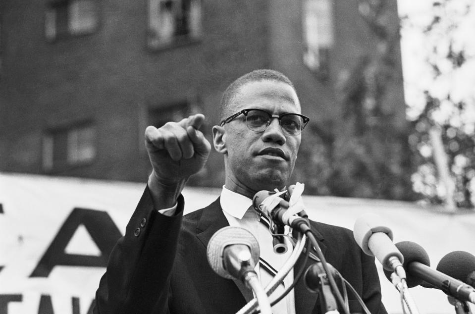 Malcolm X Speaking at Rally