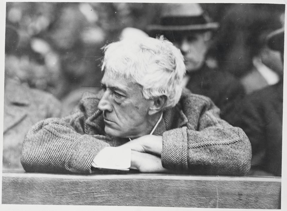 Judge Kenesaw Mountain Landis Propped in the Grandstand