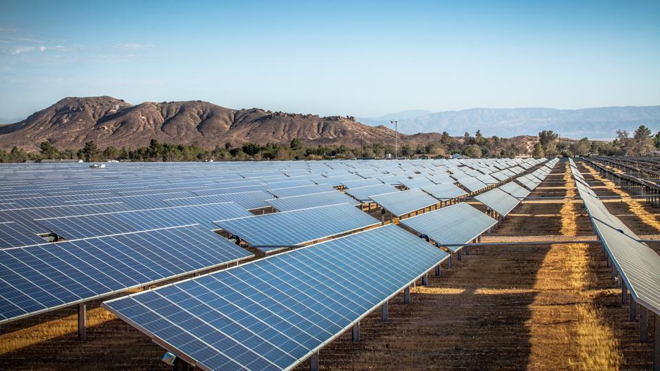 Photovoltaic Solar Array In Rosamond, California