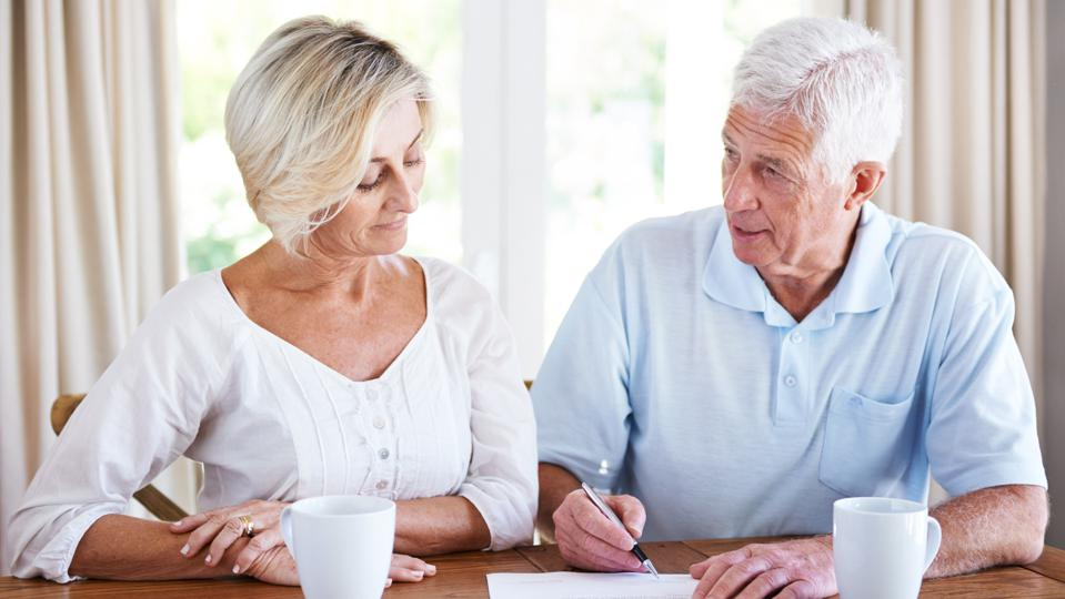 Senior couple consider using the Social Security restricted application.