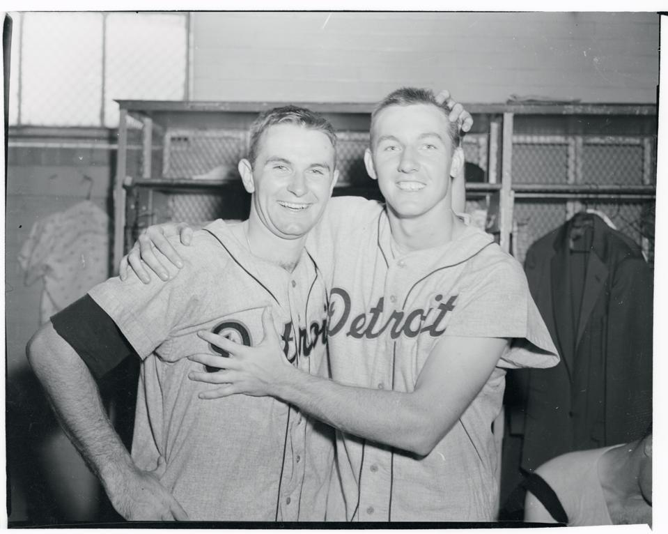 Bob Miller Posing with Al Kaline