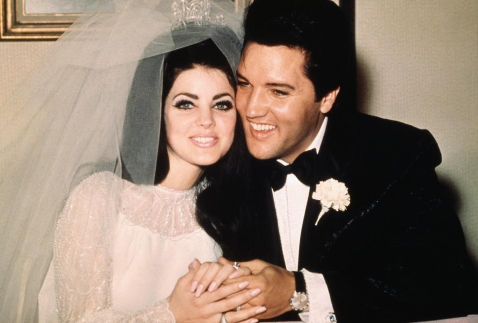 Elvis Presley with Priscilla in 1967