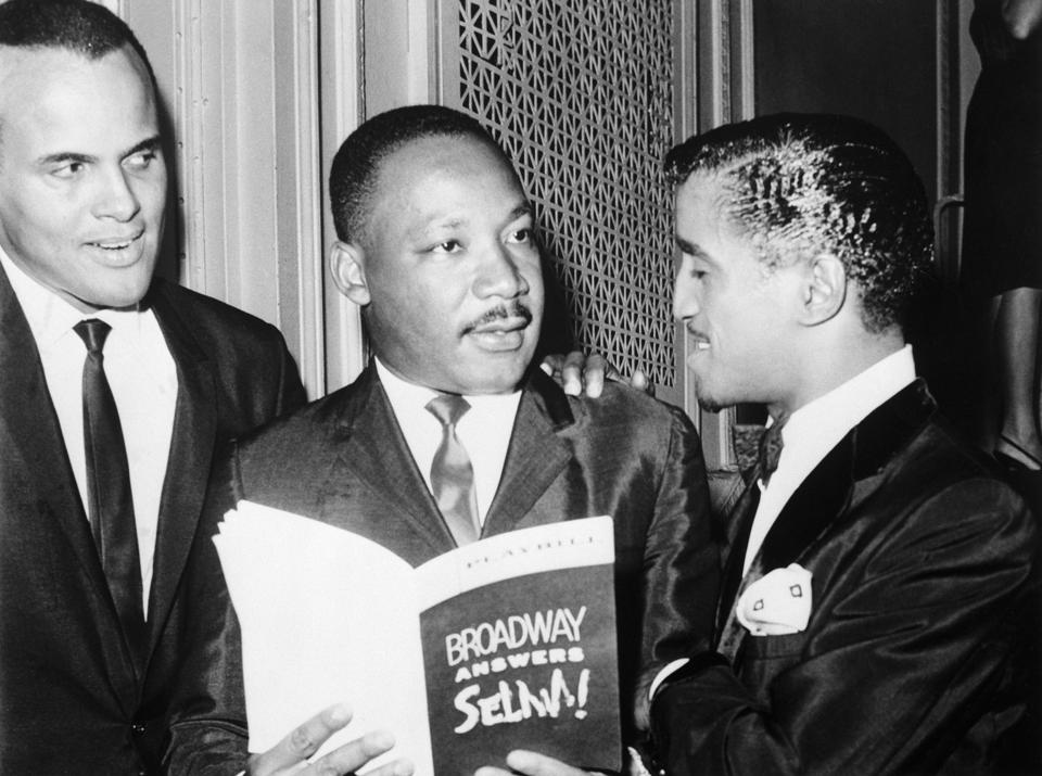 Martin Luther King Holding Broadway Playbill