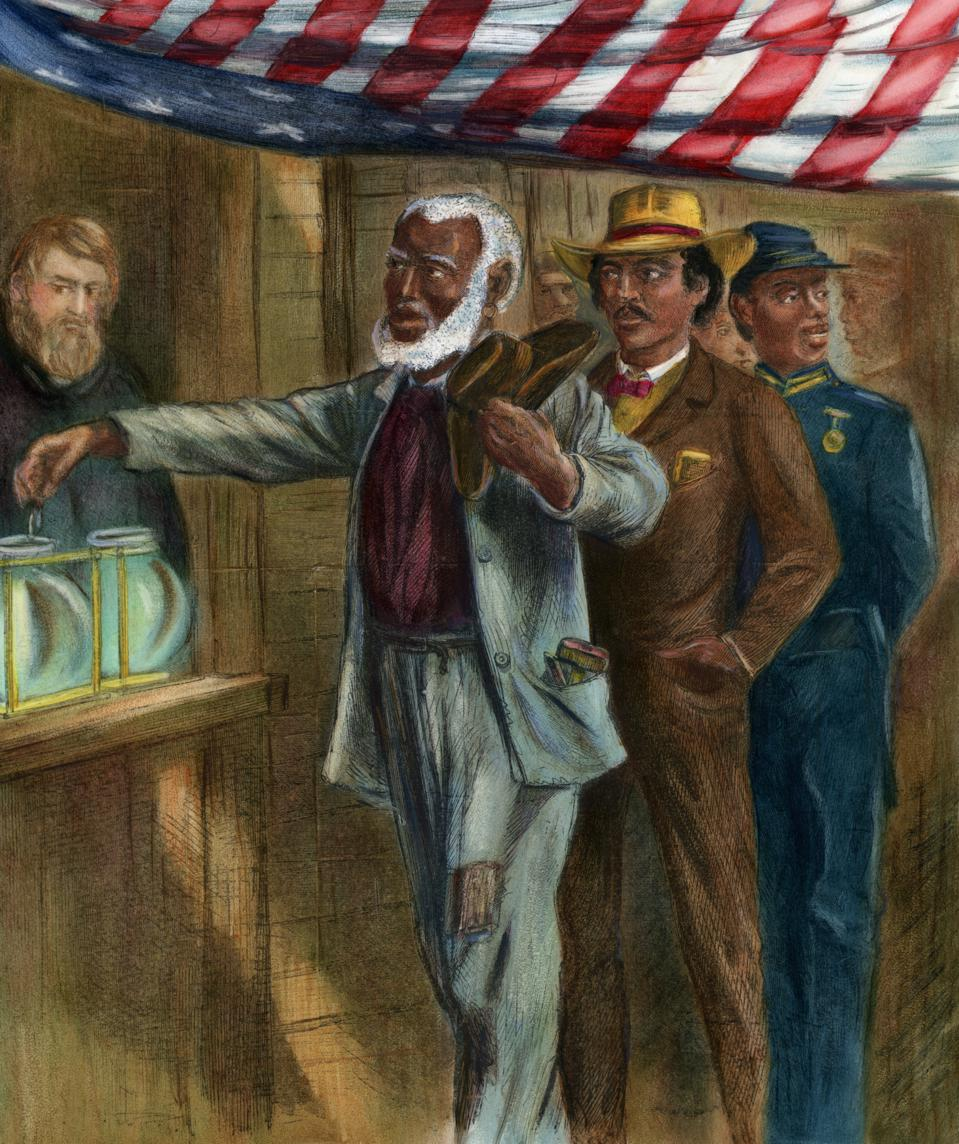 The First Vote by Alfred R. Waud