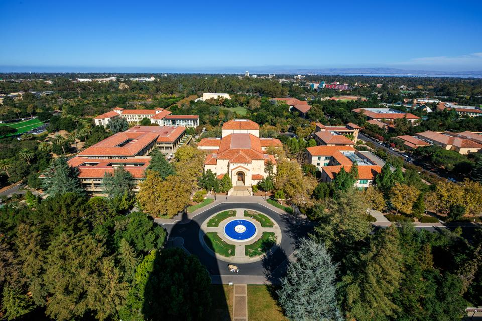 Overhead View of Stanford University