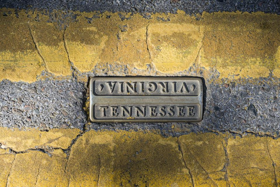 State Street in Bristol Tennessee/Virginia