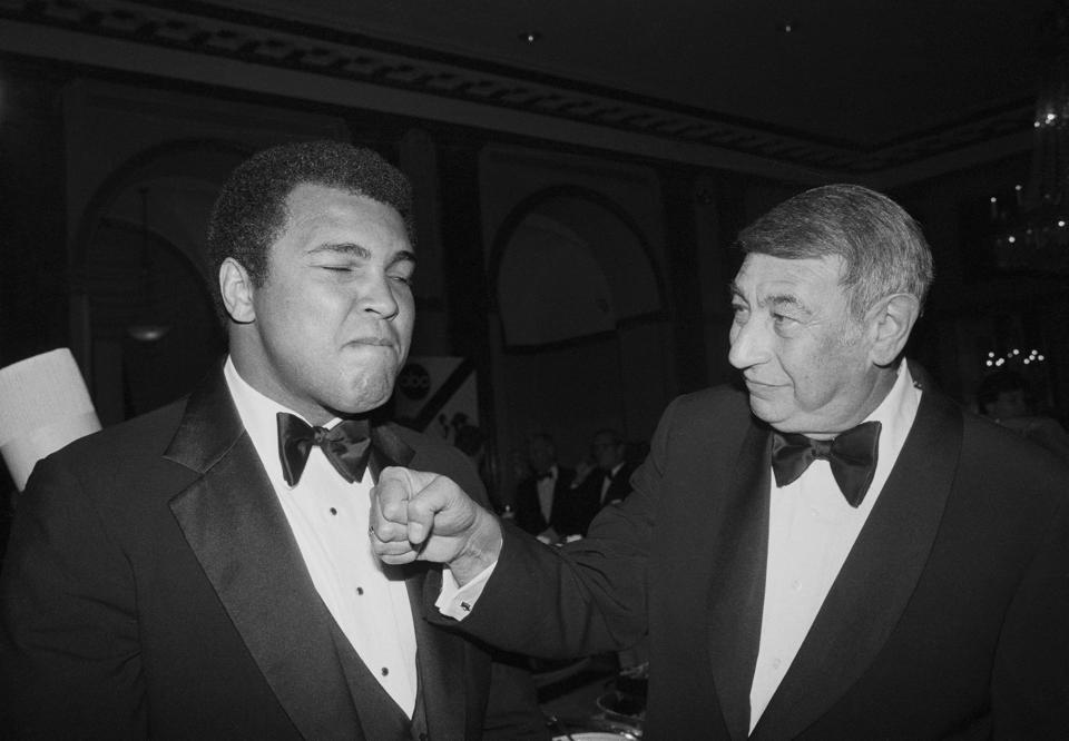Howard Cosell Standing with Muhammad Ali