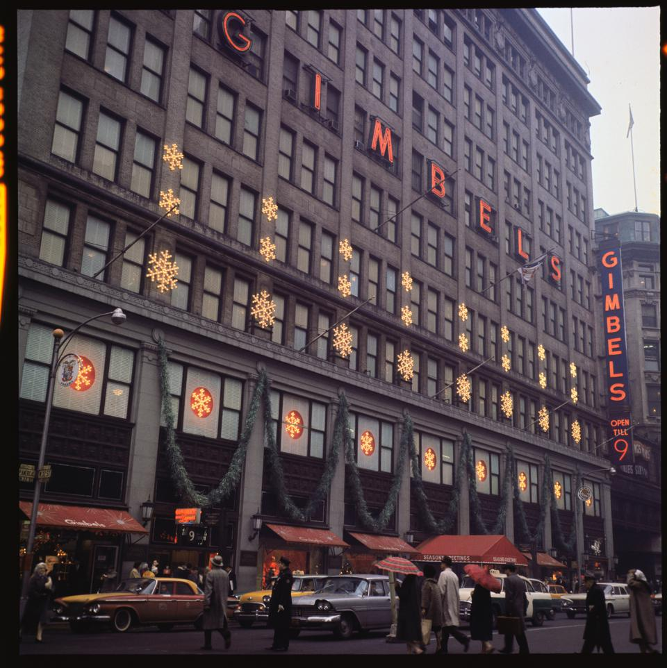 Gimbels Department Store with Christmas Decorations