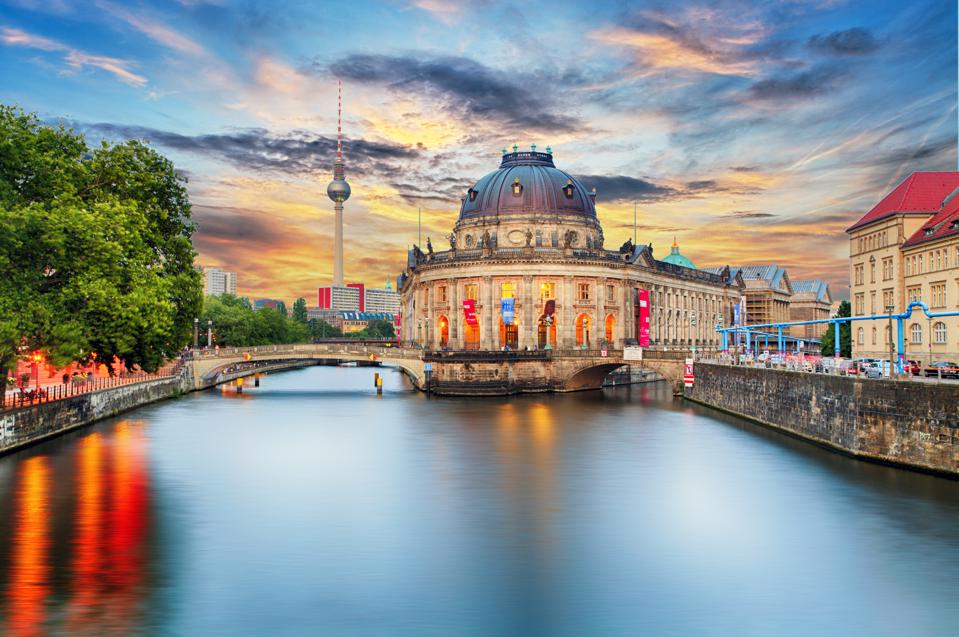 Museum island on Spree river in center Berlin, Germany
