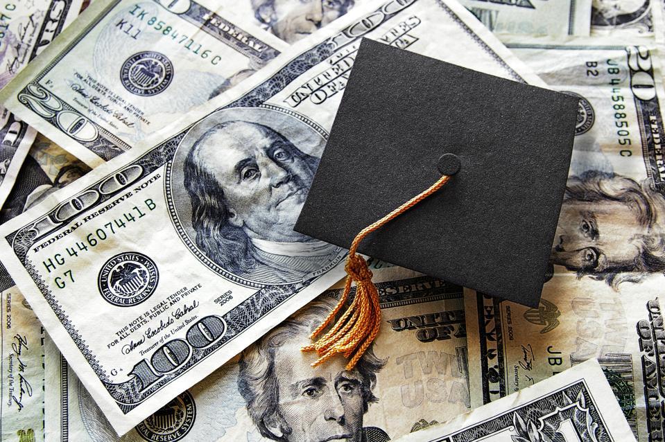 Grad cap on cash