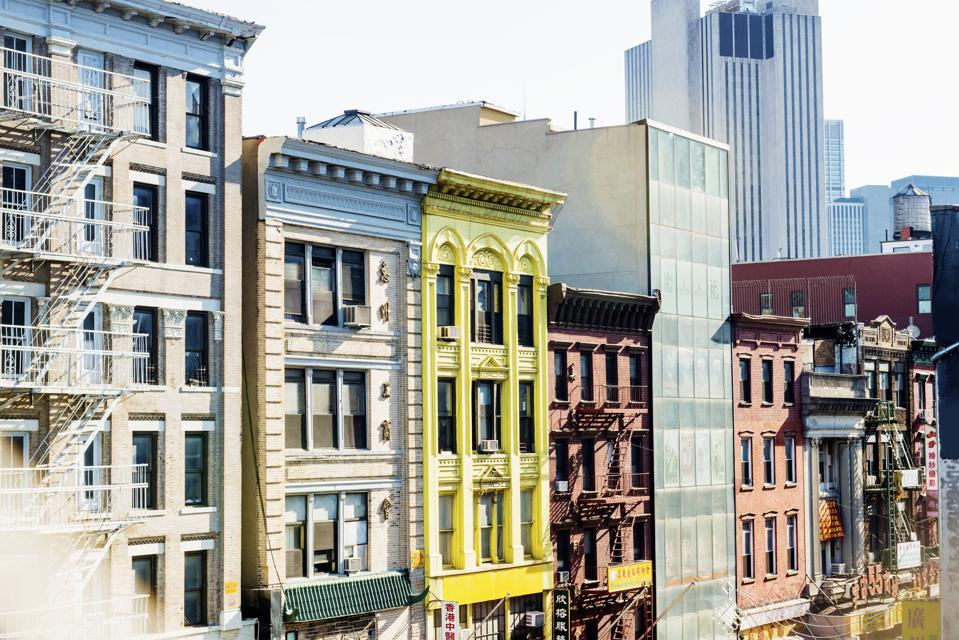 NYC Real Estate Exterior Architecture Chinatown Residential and Commercial Buildings