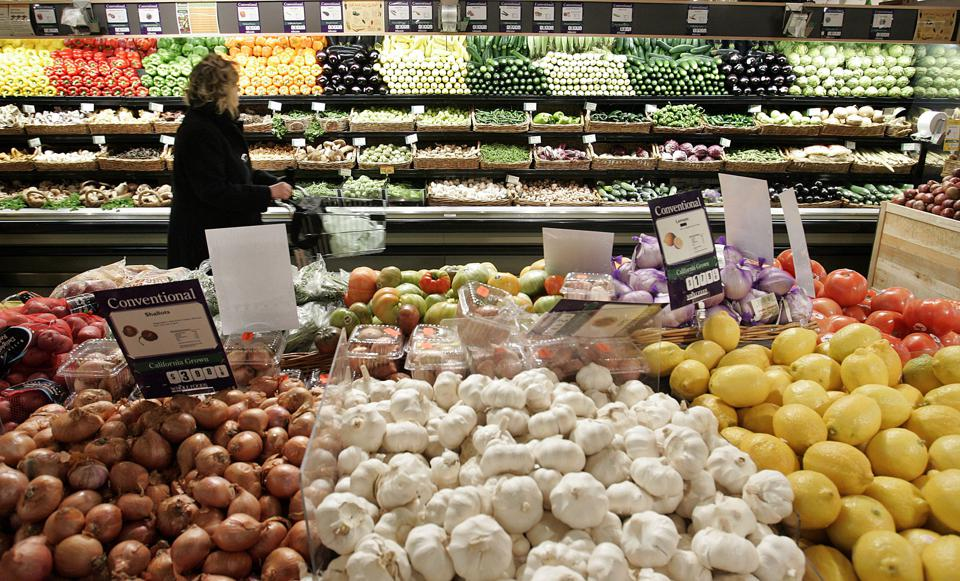 Produce section. Photo by Stephen Chernin/Getty Images
