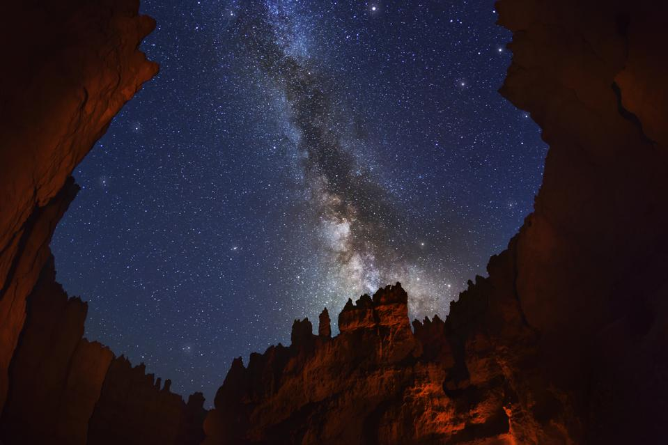 The Milky Way over Bryce Canyon.