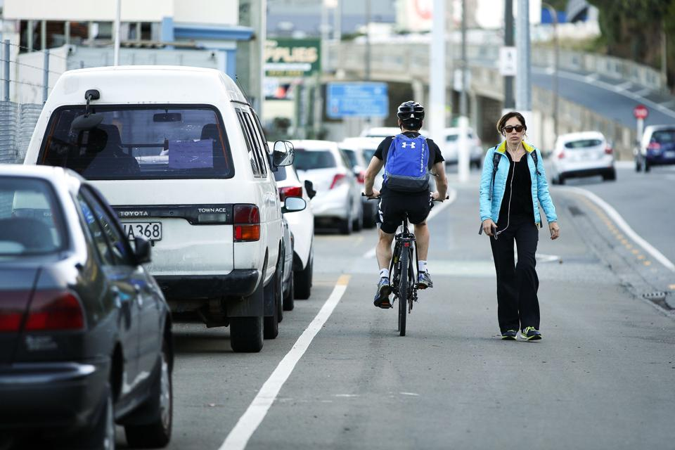 General Views Of Hutt Road As Wellington Council Proposes New Cycleway