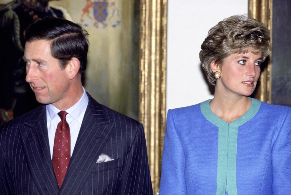 Charles And Diana before divorce