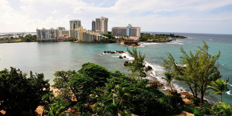 Bay in El San Juan and hotels
