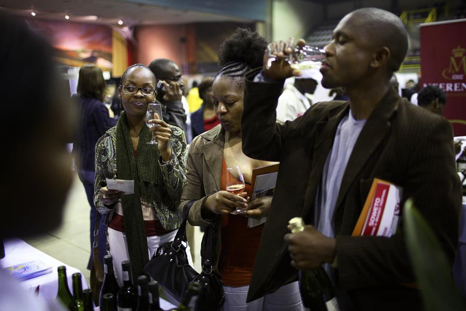 Wine festival in Soweto, South Africa