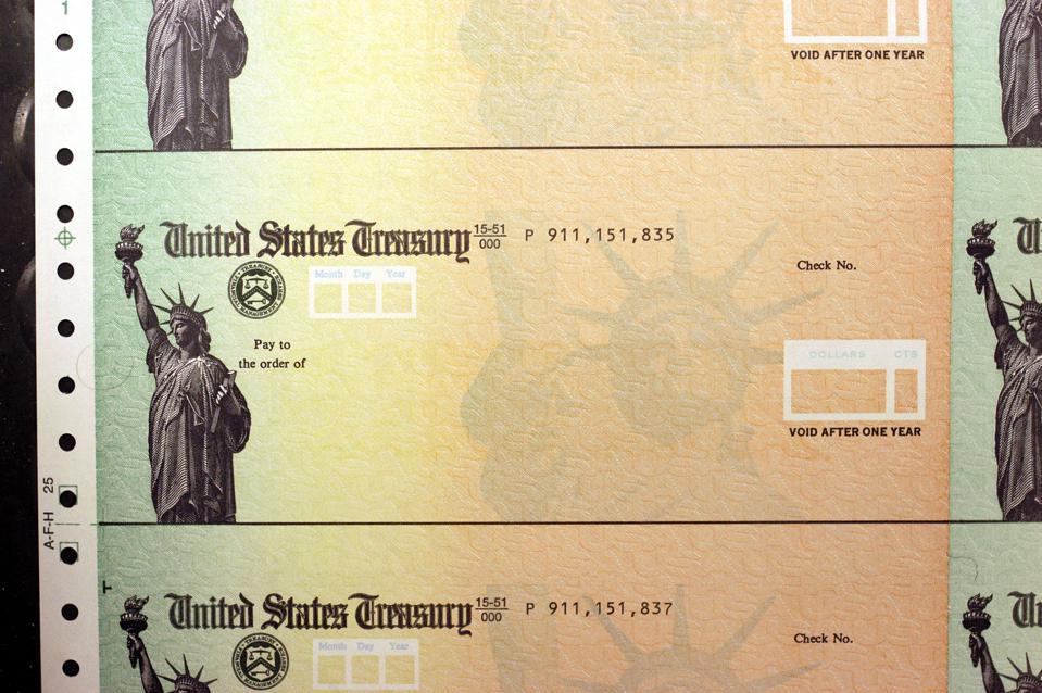 U.S. Treasury Cehcks