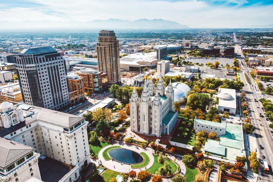 Salt Lake City Aerial View