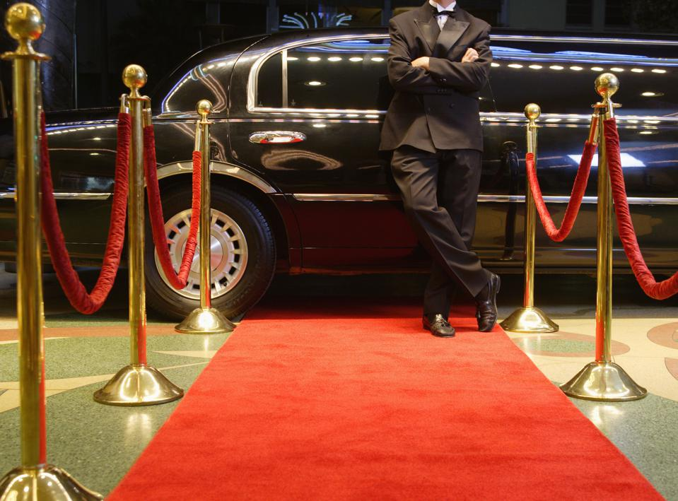 Chauffeur Waiting For Star at Red Carpet Event