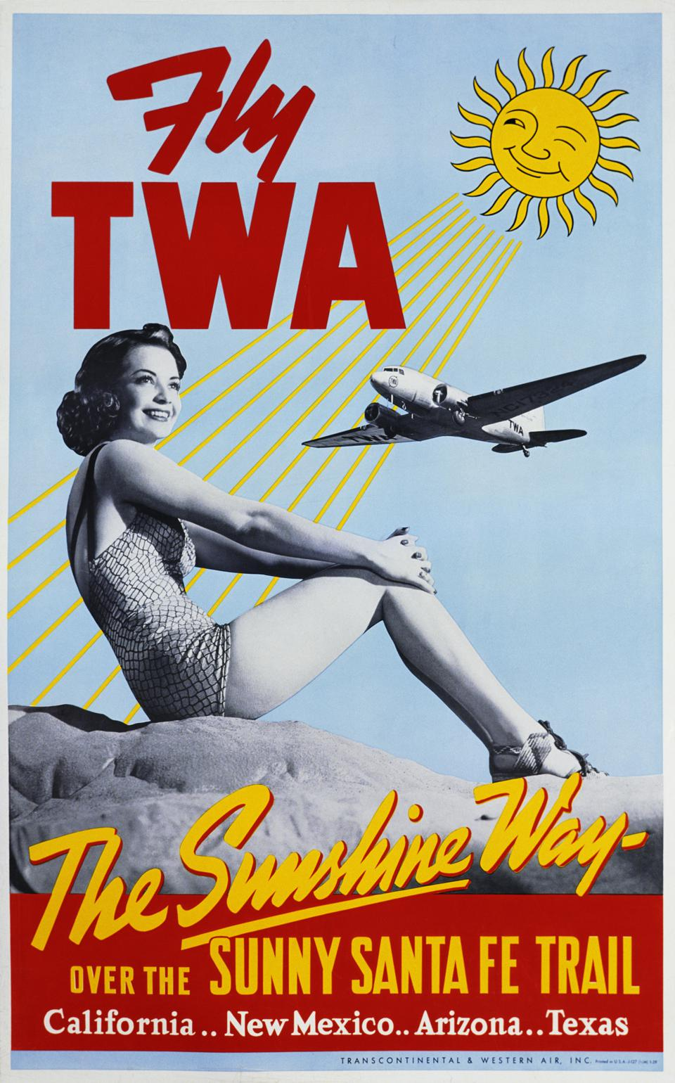 Fly TWA - The Sunshine Way Travel Poster