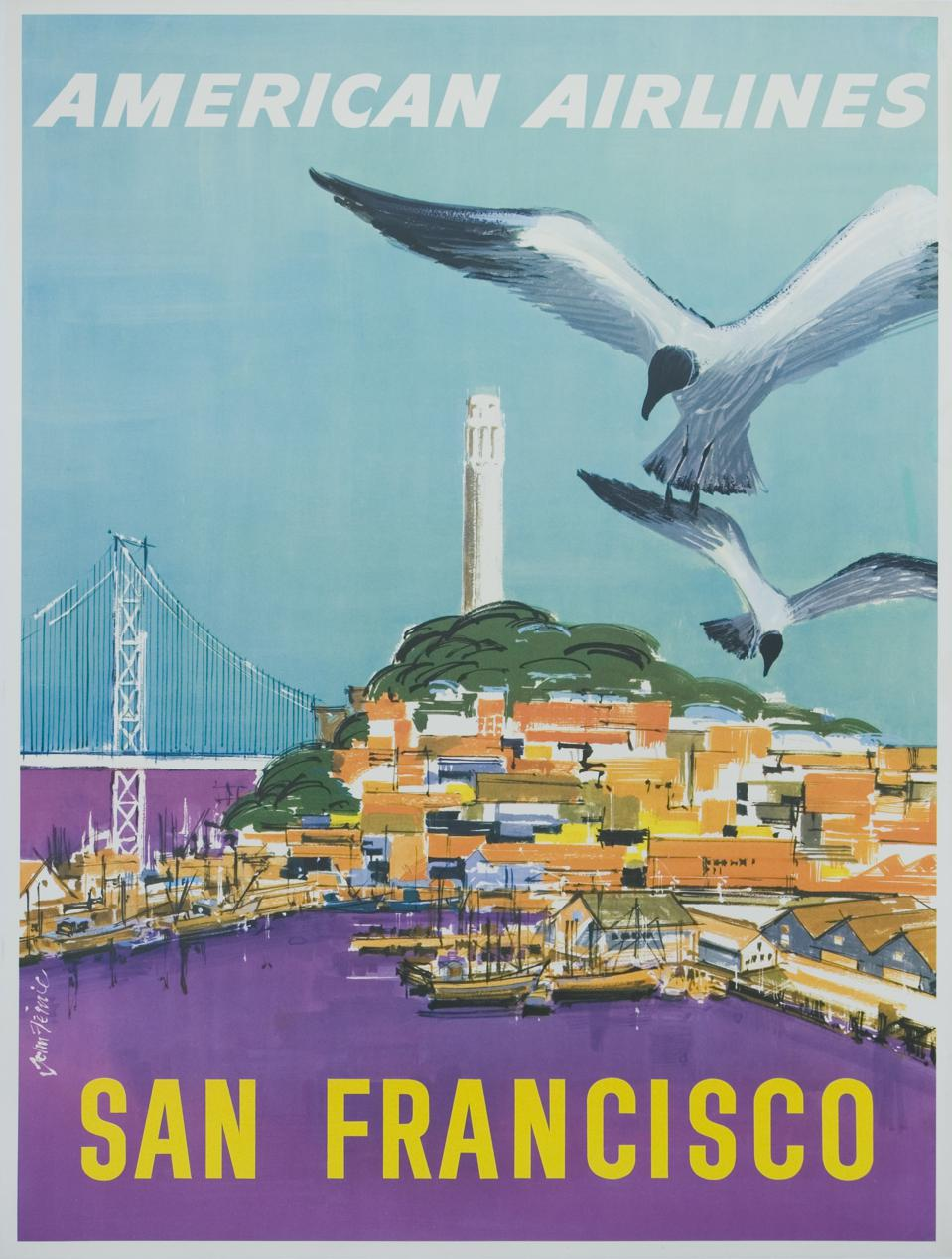 American Airlines San Francisco Poster
