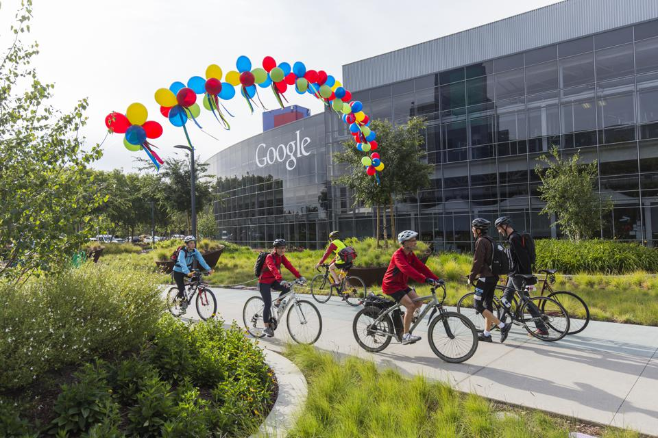 USA - Business - A look at Googleplex corporate headquarters complex of Google in Moutain View