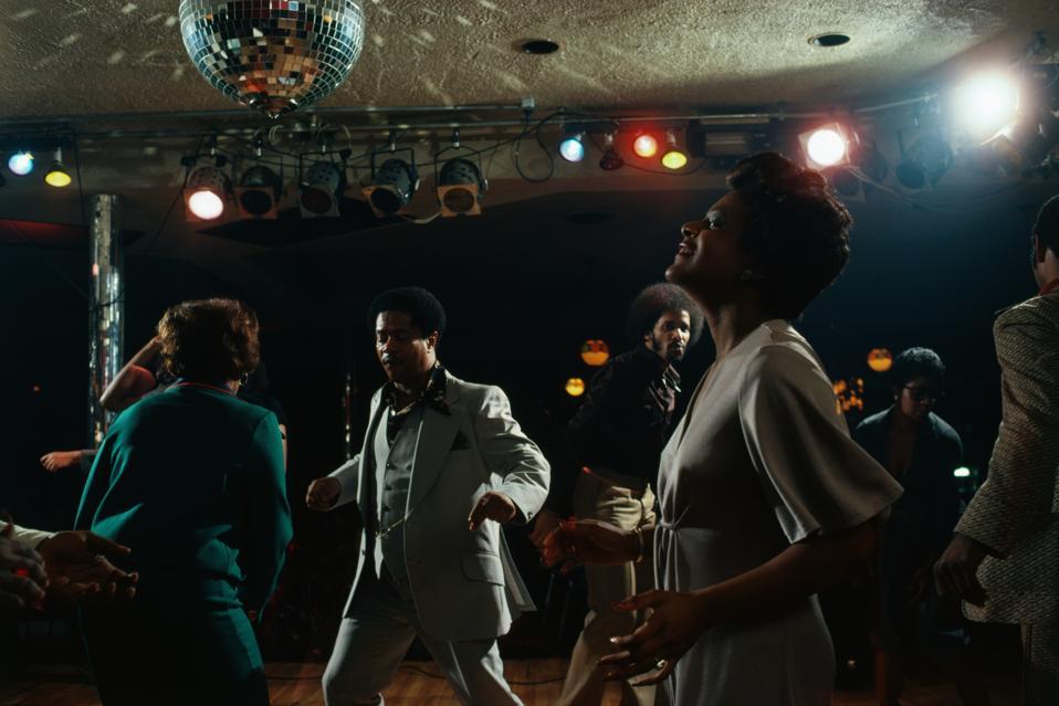 Disco Dancing in Detroit Night Club
