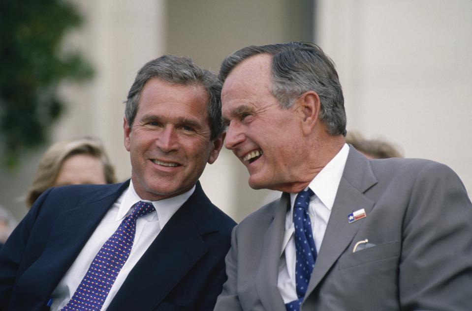 George W. Bush and George Bush