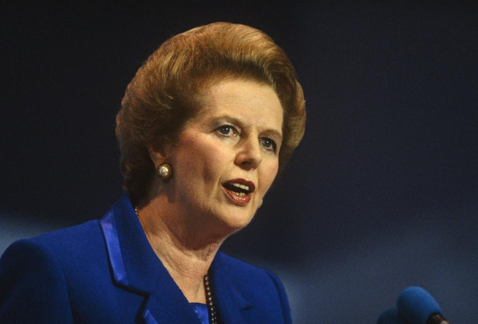 England - Blackpool - Margaret Thatcher's last conference speech as Prime Minister