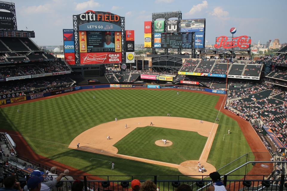 New York Mets V Philadelphia Phillies Baseball. Citi Field, New York. USA.