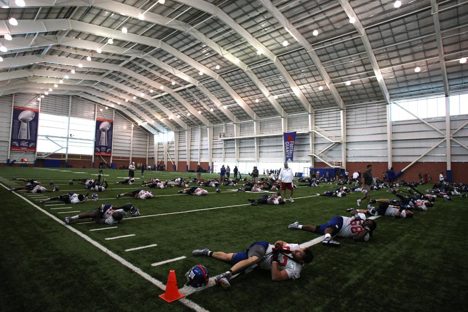 New York Giants training camp. East Rutherford, NJ