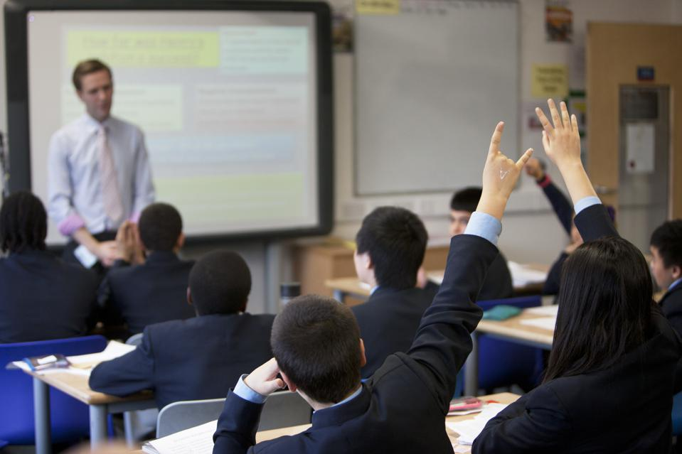 UK - Education - Teacher takes a history class at Pimlico Academy a modern secondary school in Londo