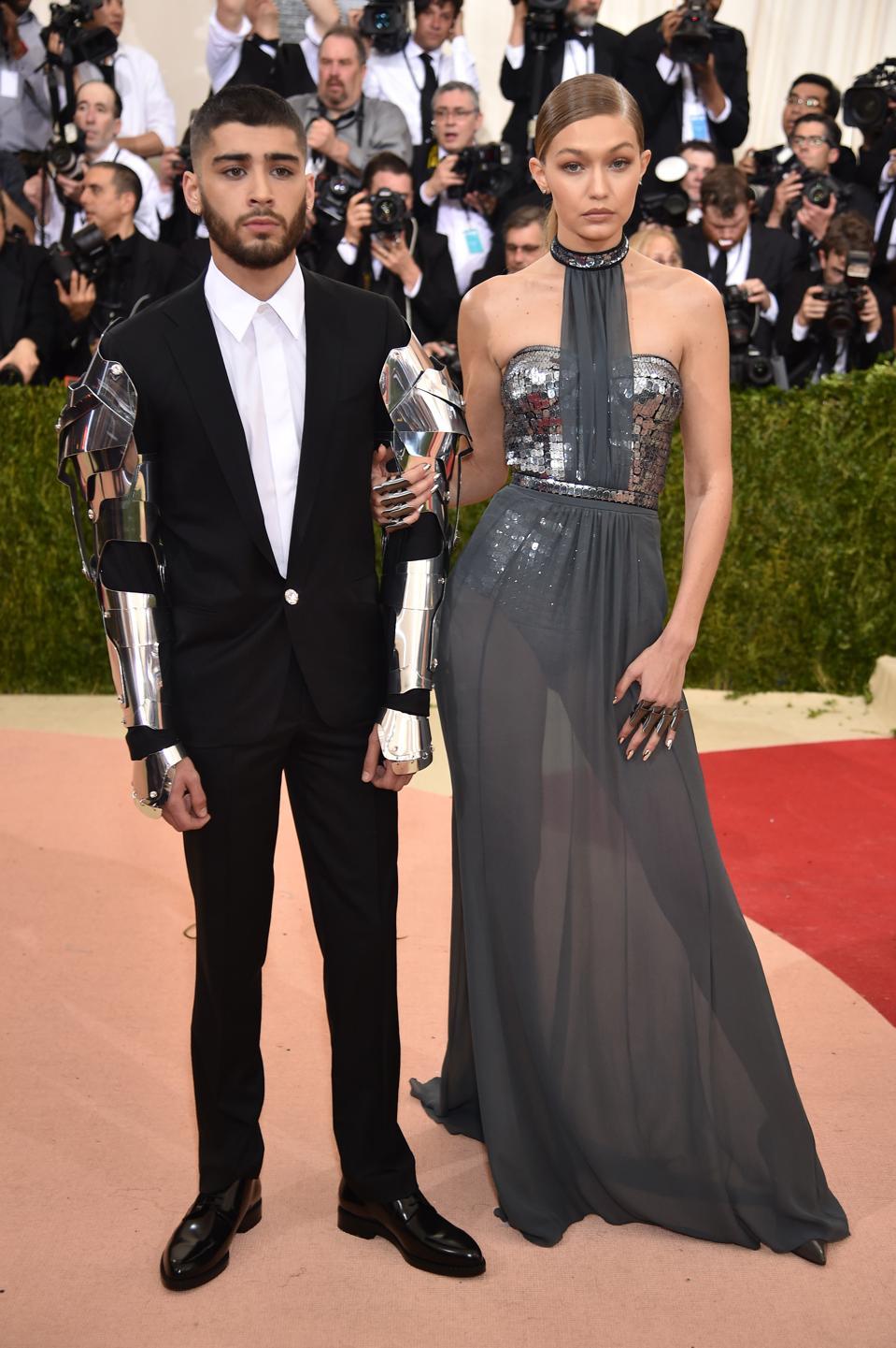 Zayn Malik and Gigi Hadid Look Like Cyborgs At Met Gala 2016